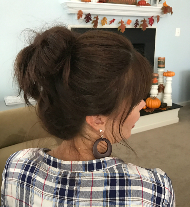 Fun Messy Bun - side view