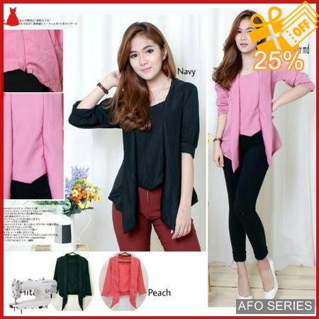 AFO672 Model Fashion Blouse Glossy Modis Murah BMGShop