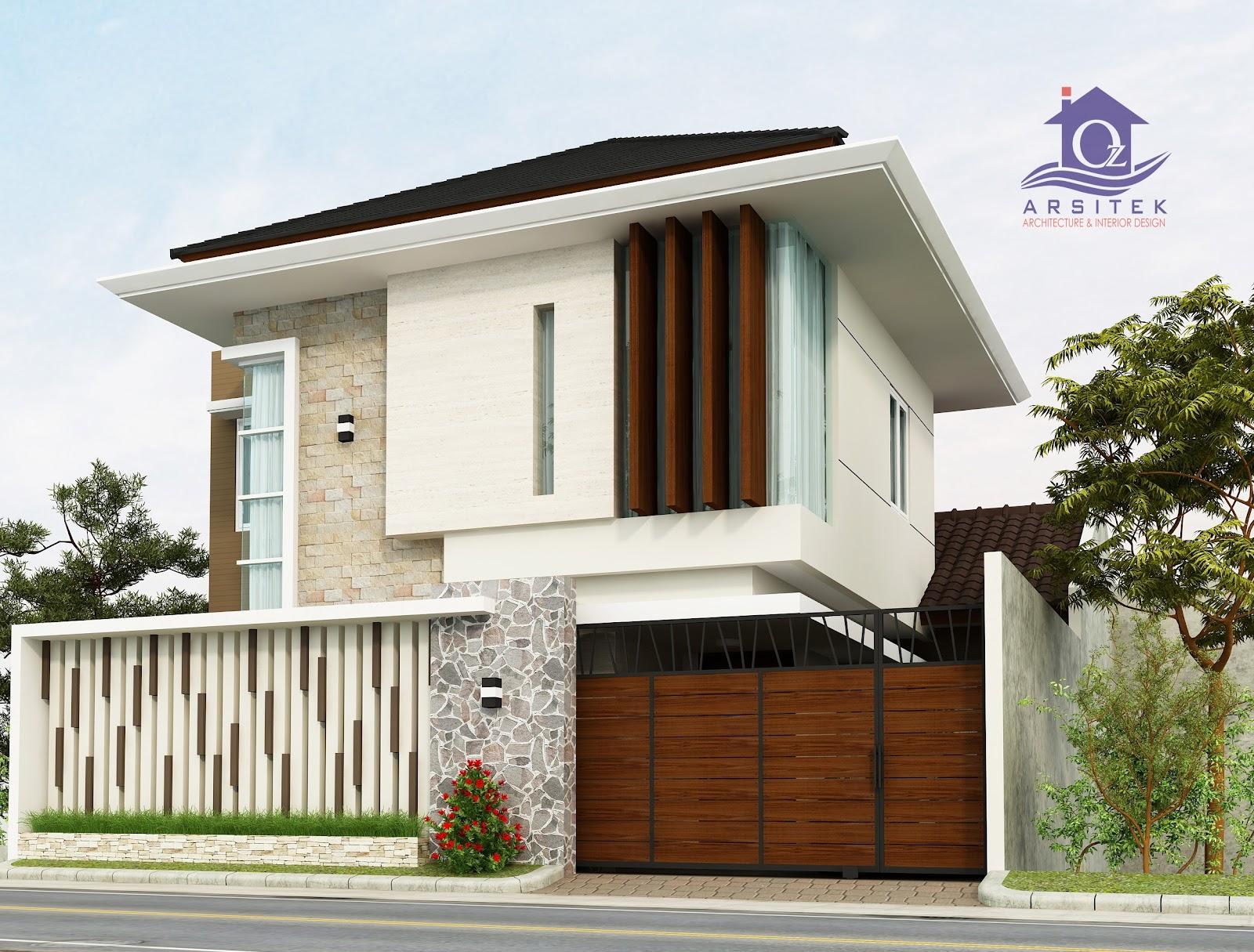 Desain Eksterior Rumah Ibu Ashri Di Surabaya