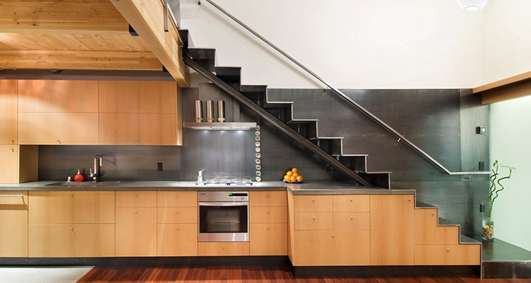 Kitchens under stairs