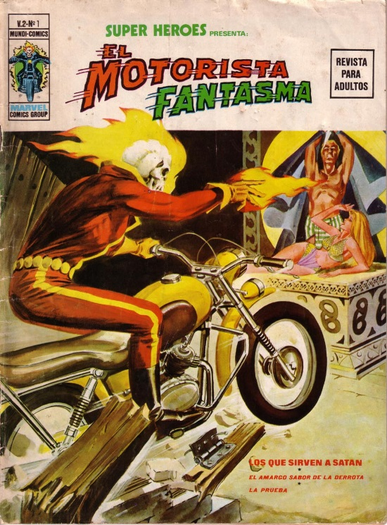 Portada de Rafael López Espí para Super Héroes Presenta Motorista Fantasma #1