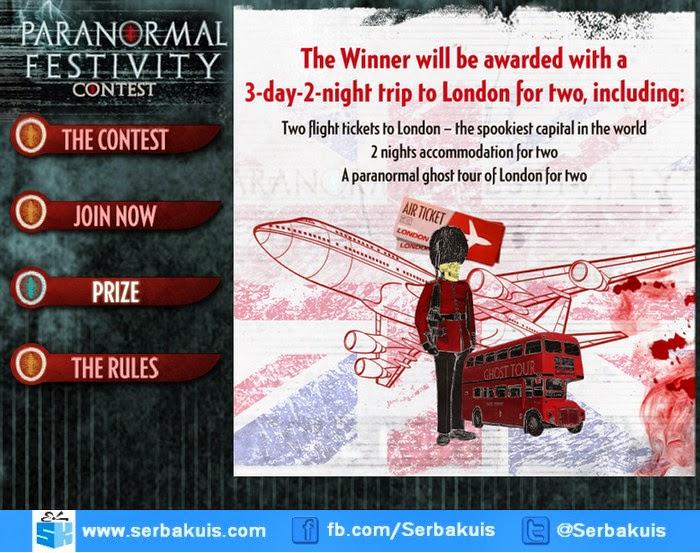 Paranormal Festivity Contest Berhadiah Trip ke London
