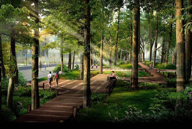 Khuôn viên cây xanh Eco Green City