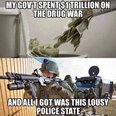 My gov't spent $1 trillion on the drug war and all I got was this lousy police state