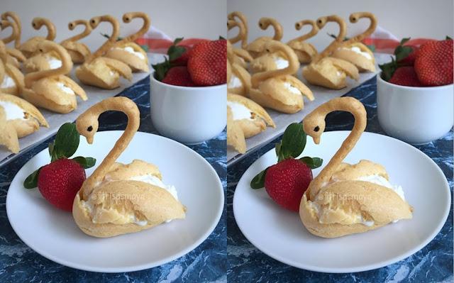 Gambar Kue Sus Bentuk Angsa Cantik dan Unik