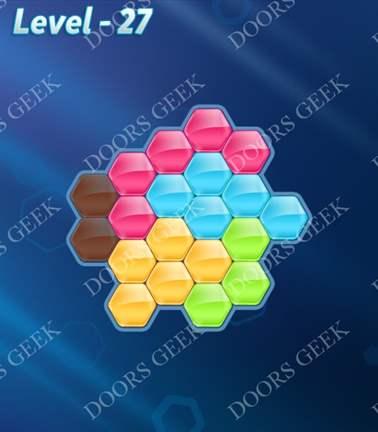Block! Hexa Puzzle [Rainbow A] Level 27 Solution, Cheats, Walkthrough for android, iphone, ipad, ipod