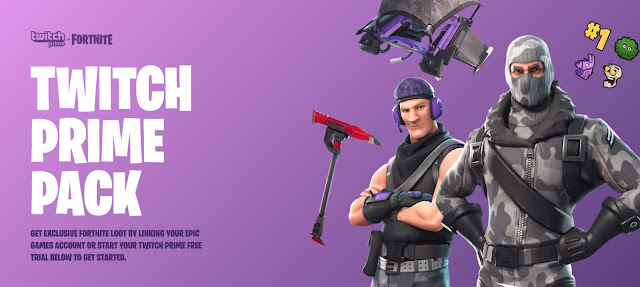 Amazon's Twitch Prime Members Are Getting Free 'Fortnite' Loot