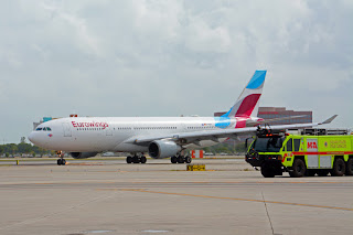 Eurowings flight arrives at MIA from Köln CGN Miami International Airport