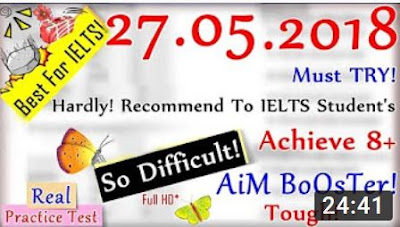 IELTS LISTENING PRACTICE TEST 2018 WITH ANSWERS | 27.05.2018