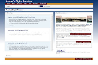 Screenshot of Alaska's Digital Archives.