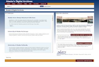 Screenshot of Alaska's Digital Archives.