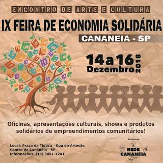 Associação Rede Cananéia realiza IX Feira de Economia Solidária