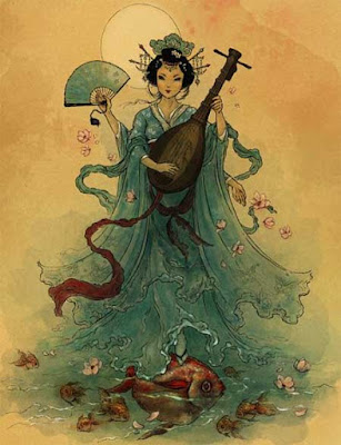 Hindu Goddess Saraswati is Benaziten in Japan