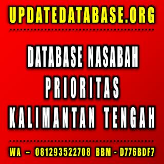 Jual Database Nasabah Prioritas Kalimantan Tengah