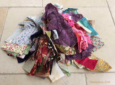 Patchwork fabric scraps