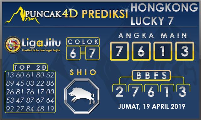 PREDIKSI TOGEL HONGKONG LUCKY7 PUNCAK4D 19 APRIL 2019