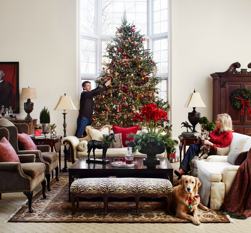 Decorated Homes: The Polohouse: Holiday Feature: Midwest Living Magazine