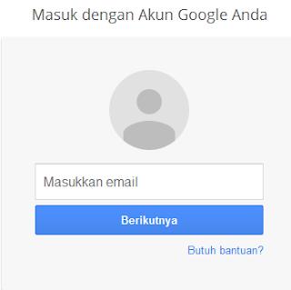 Login Masukkan id email