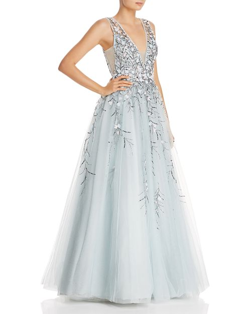 Floral Embellished Ball Gown