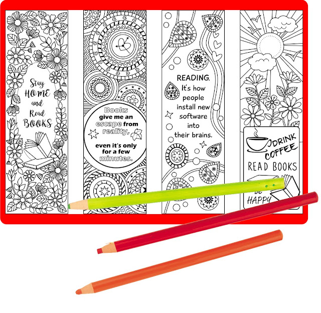 coloring bookmark templates