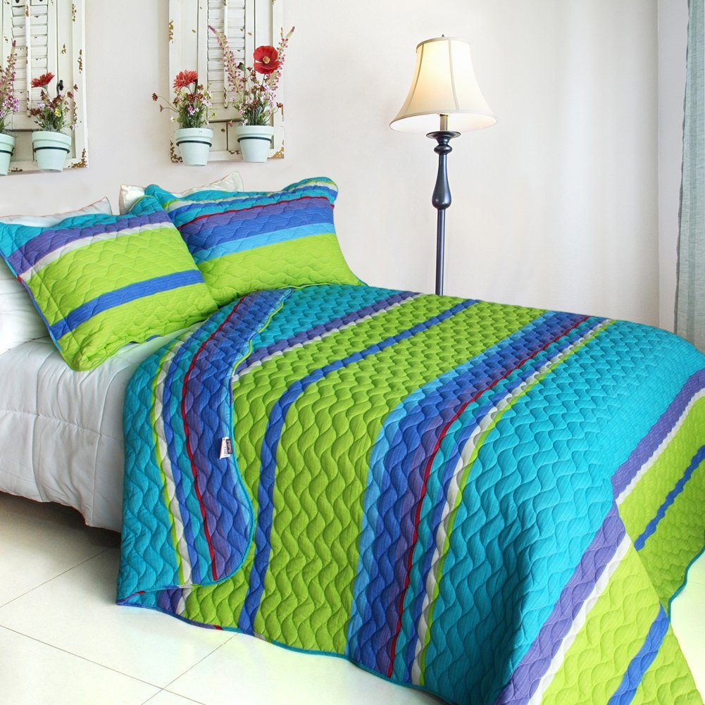 Total Fab: Turquoise Blue and Lime Green Bedding Sets