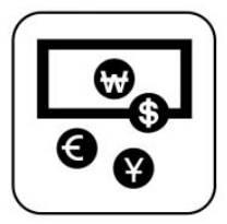 환전 외국 돈을 한국 돈으로 바꾸려고 합니다.이 표지를 찾아야 합니다.