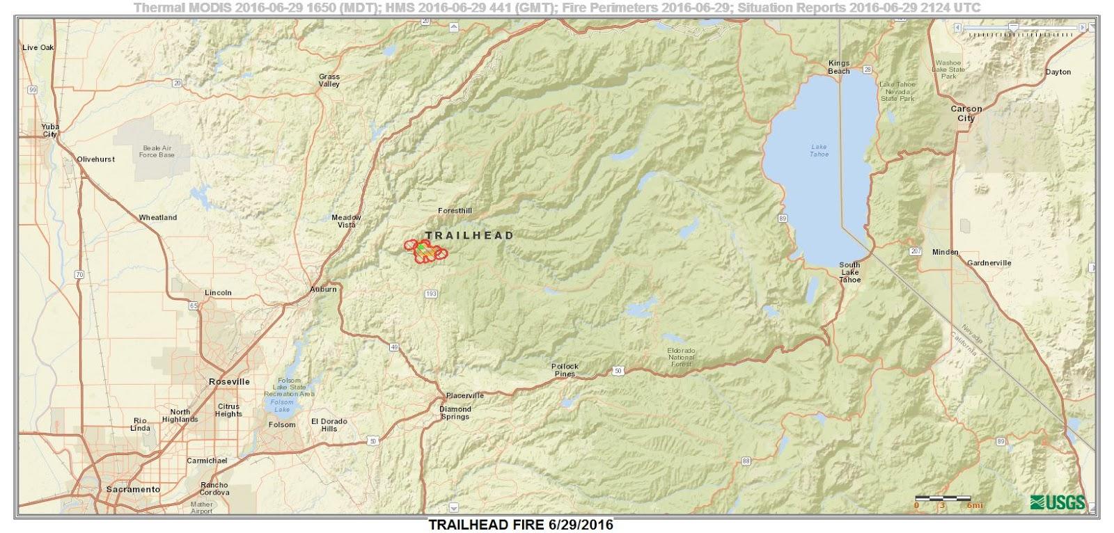 CFN - CALIFORNIA FIRE NEWS - CAL FIRE NEWS : CA-NEU Trailhead Fire Ca National Forest Map on