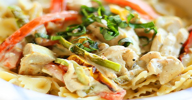 Colorful Chicken Alfredo Recipe