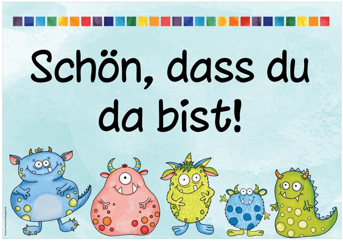 Neue Begrussungsplakate Fur Den Beamer Etc Kindergartenbeginn