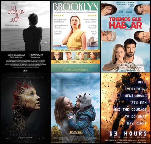 Estrenos, cines, febrero 2016