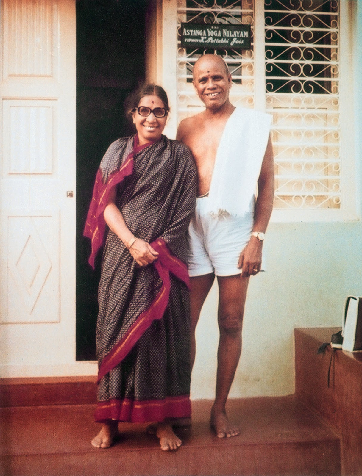 Sri K Pattabhi Jois y su Esposa