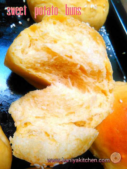 roti ubi jalar (sweet potato buns) empuk
