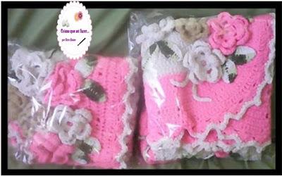 Jogo  tapetes de banheiro feito em crochê