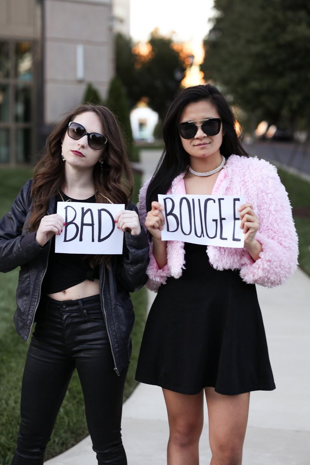 Partner halloween costume idea - bad and boujee - diy costume