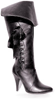 Women's Pirate (Black) Adult Boots for Halloween