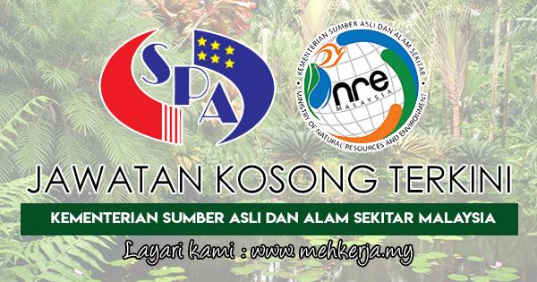 Jawatan Kosong Terkini 2018 di Kementerian Sumber Asli dan Alam Sekitar Malaysia
