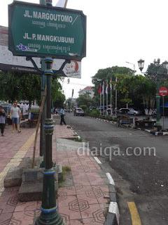 Jalan P. Mangkubumi / Jalan Margoutomo