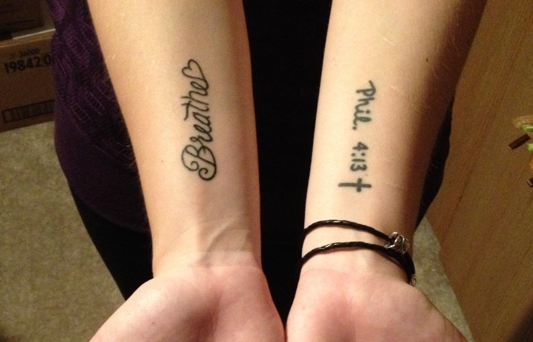 Tattoos For Anxiety: The Bible, Life, & Love: My Ongoing Battle With Depression