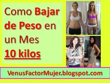 Como bajar de peso en un mes 10 kilos dieta y ejercicios sistema venus factor en espa ol - Perder 10 kilos en 2 meses ...