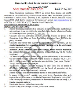 HPPSC Forest Assistant Conservator Recruitment notice