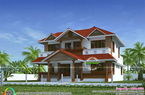 Traditional 260 sq-m house architecture