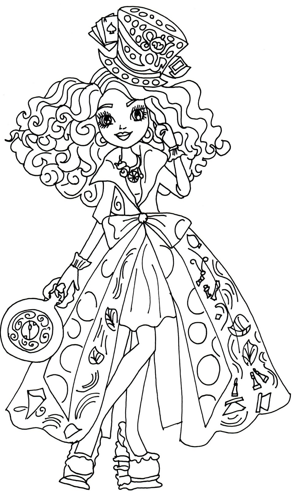 madeline coloring pages - free printable ever after high coloring pages madeline