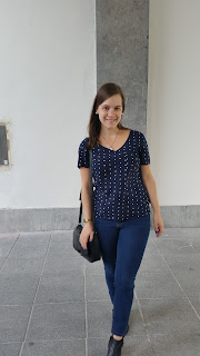 (Clothes & Dreams) 16 in 2016: number two! Vila polka dot top, Levi's jeans