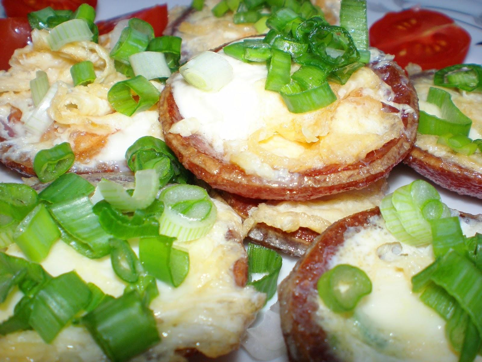 Ciupercuțe de salam cu ou și cașcaval