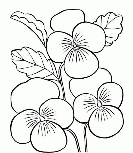 Los Dibujos Para Colorear Dibujos De Flores Para Colorear