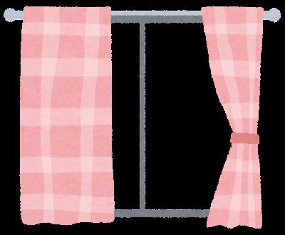 カーテンと窓のイラスト