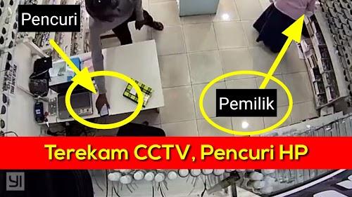 Terekam CCTV, Aksi Pencurian HP dan Pemipiknya