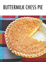 Classic, old-fashioned buttermilk chess pie recipe