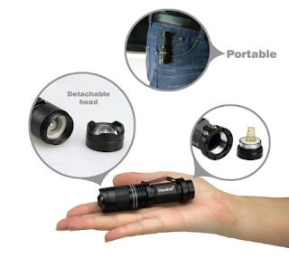 Hausbell 7W Ultra Bright Mini LED Flashlight Tactical Flashlight