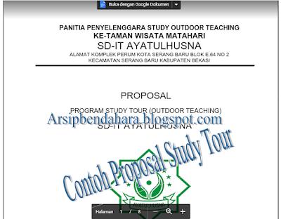 Download Contoh Proposal Study Tour Format Word - Arsip Bendahara